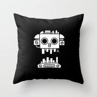 Mechanical Jolly Roger - PM Throw Pillow