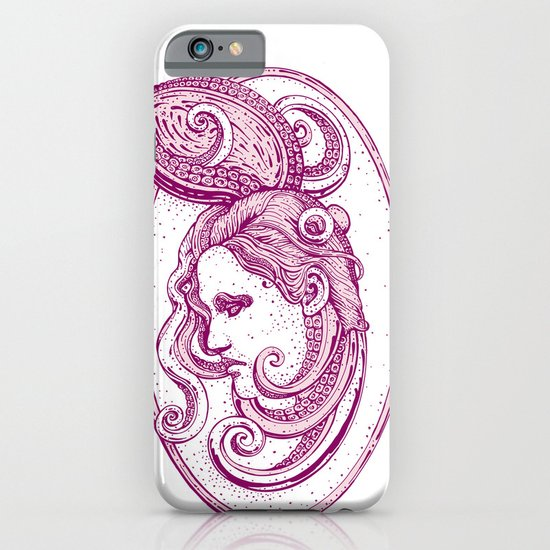 Octopus/girl in pink iPhone & iPod Case