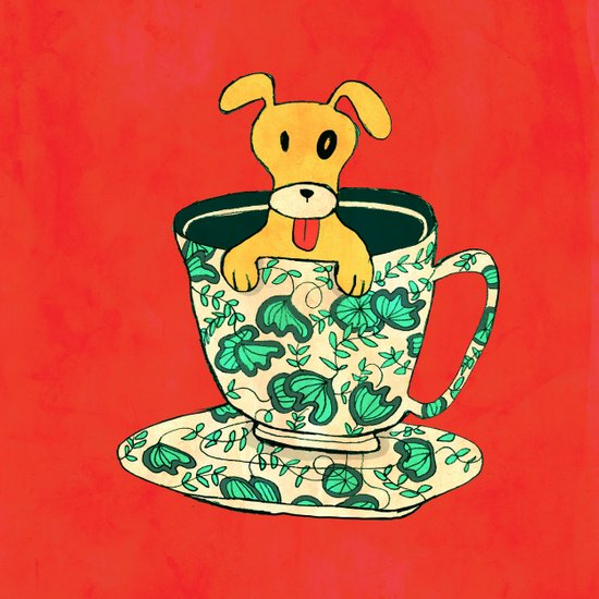 Dinnerware Sets - puppy in a teacup Art Print