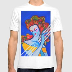 Siren's Harp White SMALL Mens Fitted Tee