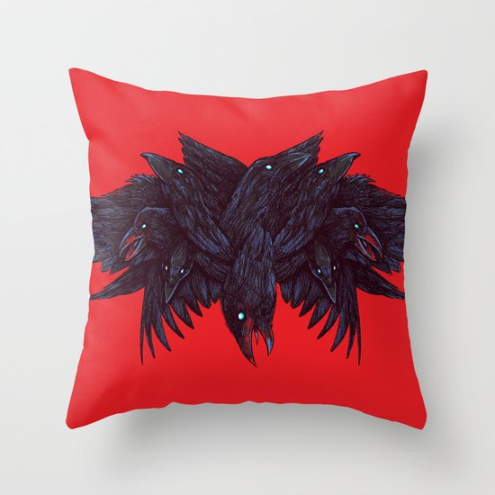 Crowberus Throw Pillow