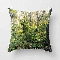 Hawaiian Rain Forest Throw Pillow
