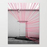 White Door, Red-Pink Prism Canvas Print