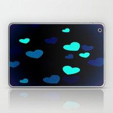 Blue Hearts Laptop & iPad Skin