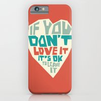 iPhone & iPod Case featuring If you don't love it… A PSA for stressed creatives. by Juliana Rojas   Puchu