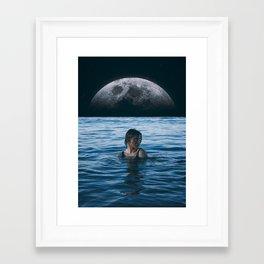 Framed Art Print - Moon River - Seamless