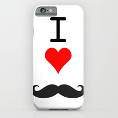 I Love Mustache Slim Case iPhone 6s