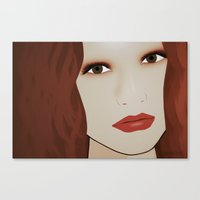 Red Head from Another Dream Canvas Print