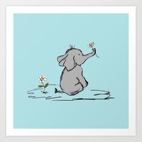 Jeffery Elephant Art Print
