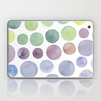Dots Purple And Green Laptop & iPad Skin