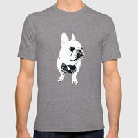 George the cutest French Bulldog Mens Fitted Tee Tri-Grey SMALL