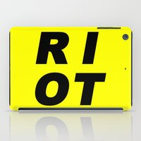 RIOT (BLACK AND YELLOW) iPad Case