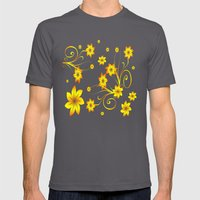 Flower Fantasy 3 Mens Fitted Tee Asphalt SMALL