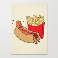Fast Food Massacre Canvas Print