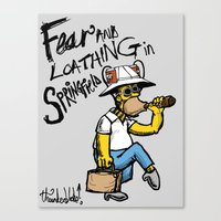 Fear And Loathing In Spr… Canvas Print
