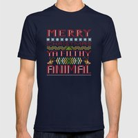 Merry Christmas Ya Filth… Mens Fitted Tee Navy SMALL