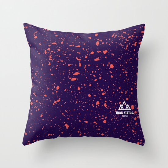 Trail Status / Purple Throw Pillow