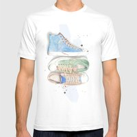 Converse Shoes Mens Fitted Tee White SMALL
