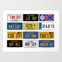 Famous Number Plates Art Print