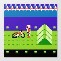 Punctured Bike Canvas Print