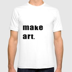 make art. White Mens Fitted Tee SMALL