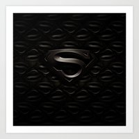 superman Art Prints featuring SUPERMAN by Smart Friend