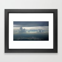 Sky Clouds Framed Art Print