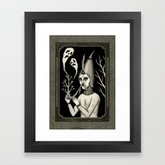 Man With Ghost Pipe Framed Art Print