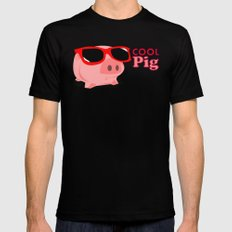 Cool Pig Mens Fitted Tee Black SMALL