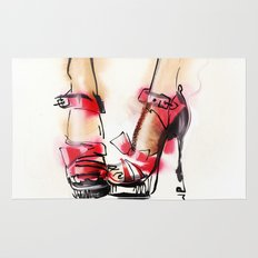 Red shoes Rug
