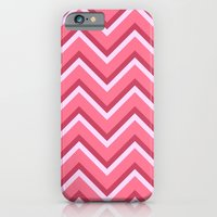 Pink Zig Zag Pattern iPhone 6 Slim Case