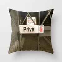 Prive Throw Pillow