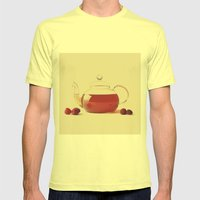 Raspberry Tea (Retro and Vintage Still Life Photography) Mens Fitted Tee Lemon SMALL