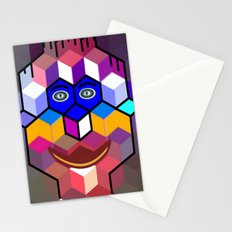 cube face Stationery Cards