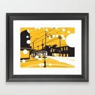 Toronto Snow! Framed Art Print