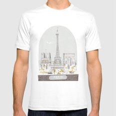 Petit Belle White Mens Fitted Tee SMALL