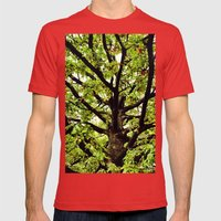 Leaves and Branches Mens Fitted Tee Red SMALL