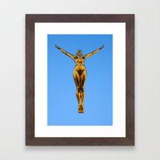 Golden Lady Framed Art Print