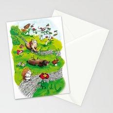 Animals wood Stationery Cards