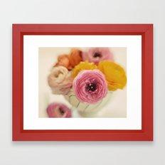 Vintage Ranunculus Framed Art Print