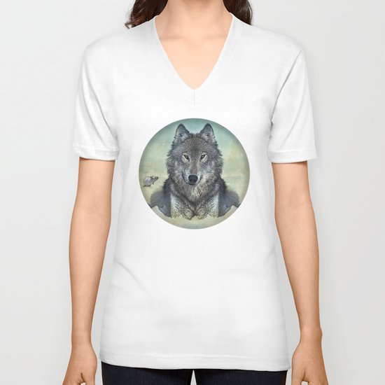 Scout and tiny V-neck T-shirt