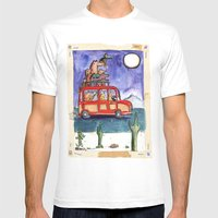 Dogs on Vacation: Mens Fitted Tee White SMALL