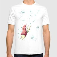 Diver Mens Fitted Tee White SMALL