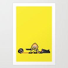 Kill Pixel Bill  Art Print