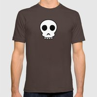 Goofy skull Mens Fitted Tee Brown SMALL