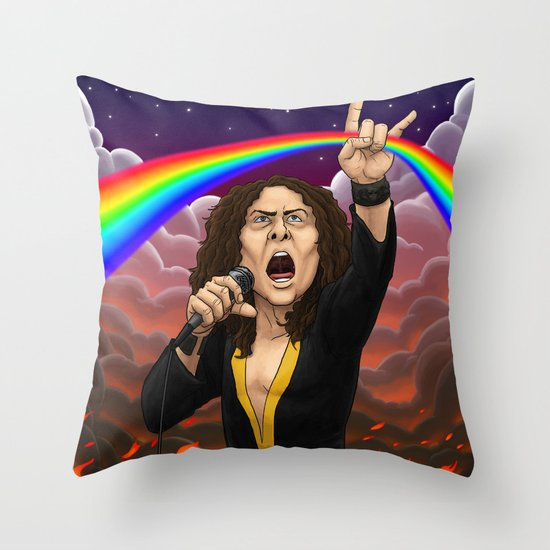 Ronnie James Dio Throw Pillow