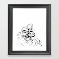 Circus Clown Framed Art Print