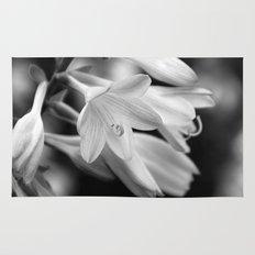 Black and White Hosta Bloom Rug