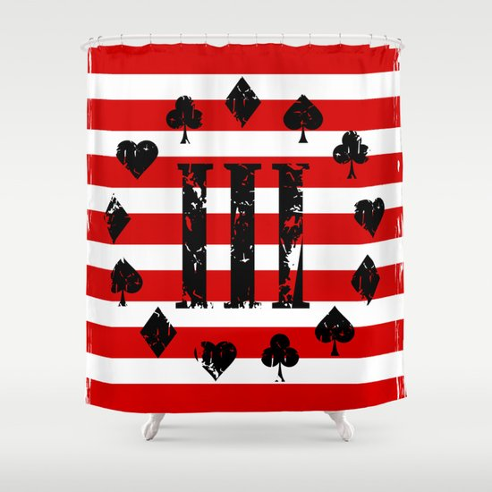 Three Percenter Aces USA Flag Shower Curtain by Mailboxdisco ...