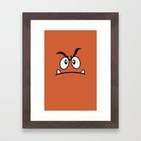 Minimalist Goomba Framed Art Print